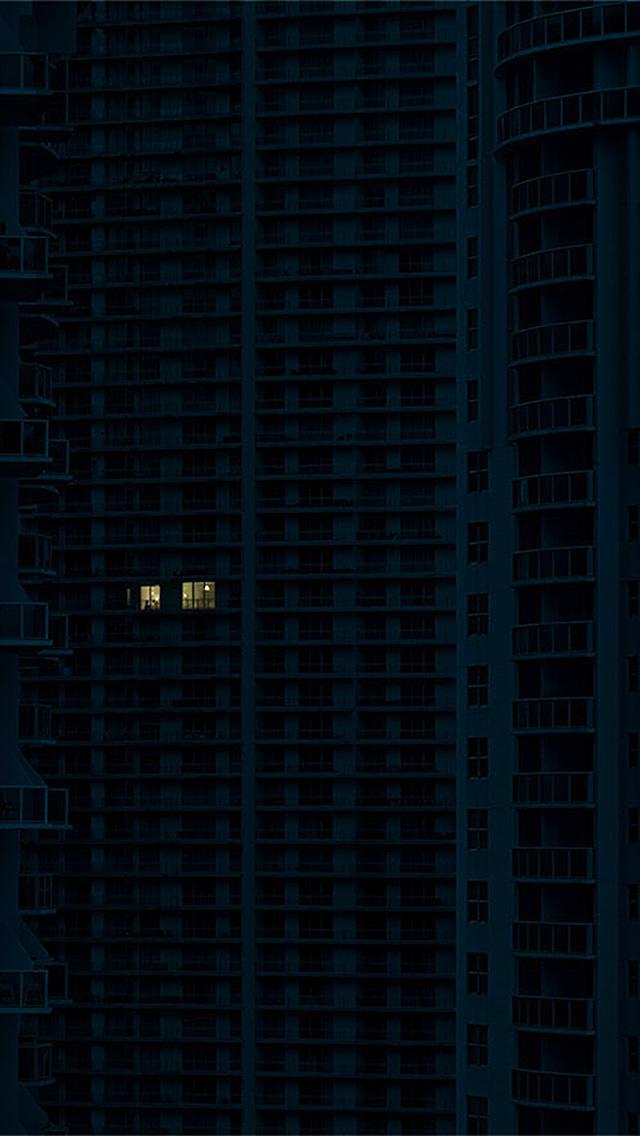 freeios8.com-iphone-4-5-6-plus-ipad-ios8-bc34-night-city-building-architecture-art-illustration-blue