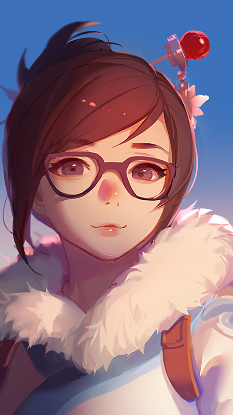 Papers.co-iPhone5-iphone6-plus-wallpaper-bc42-mei-overwatch-game-art-illustration-cute