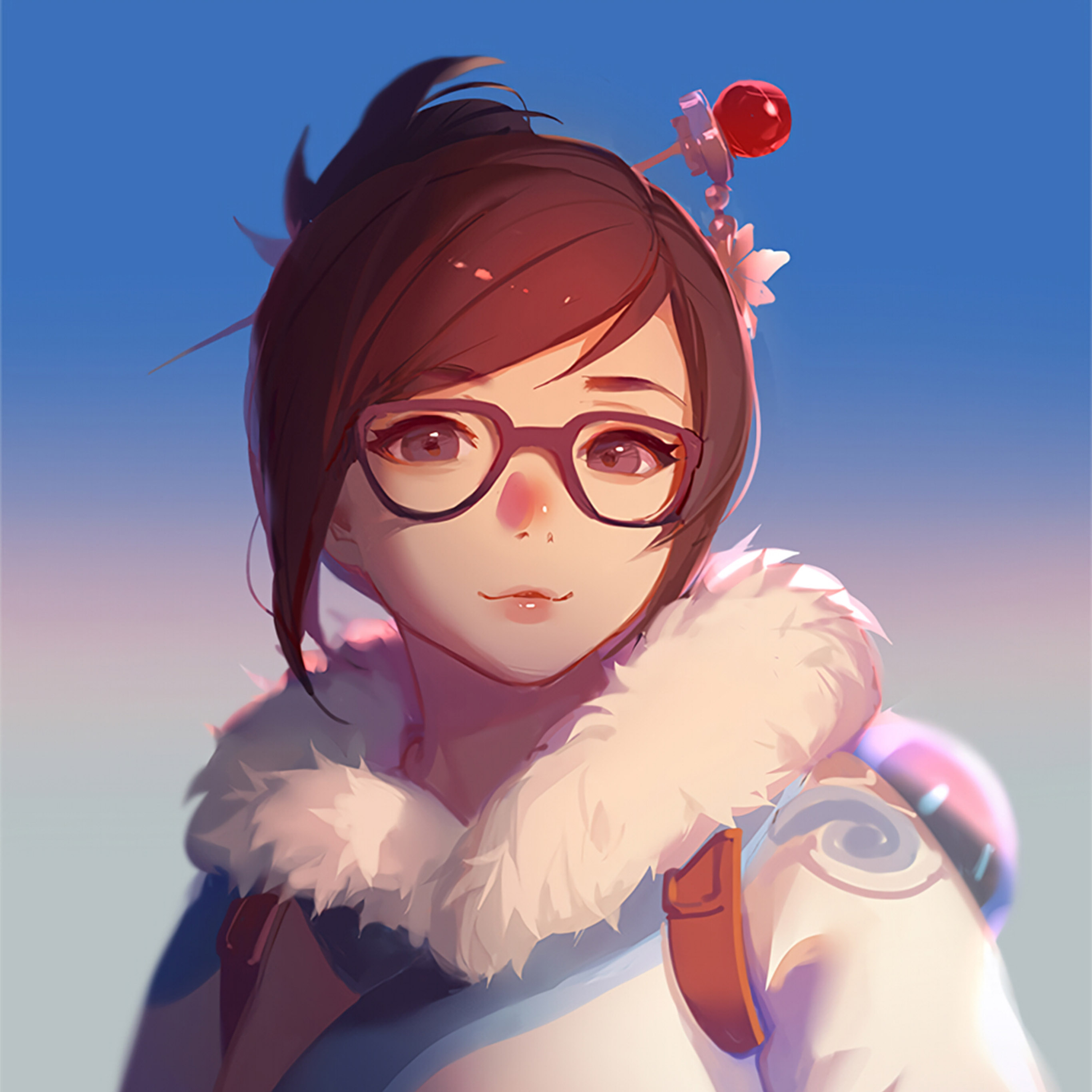Android wallpaper bc42 mei overwatch game - Mei wallpaper ...