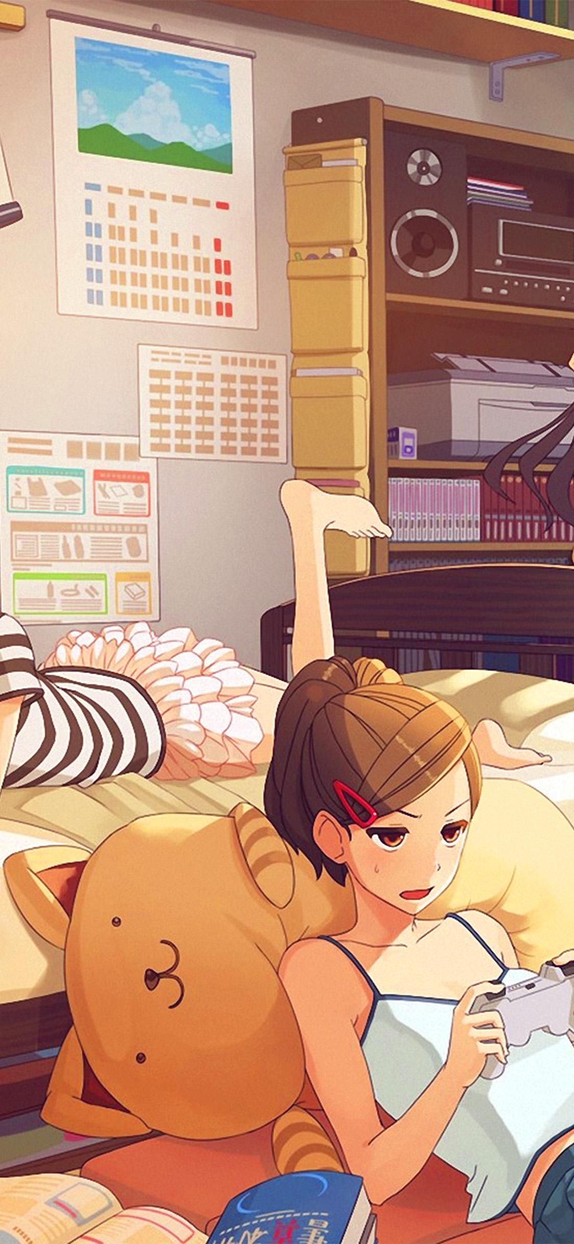 iPhonexpapers.com-Apple-iPhone-wallpaper-bc45-girl-room-anime-art-illustration-cute