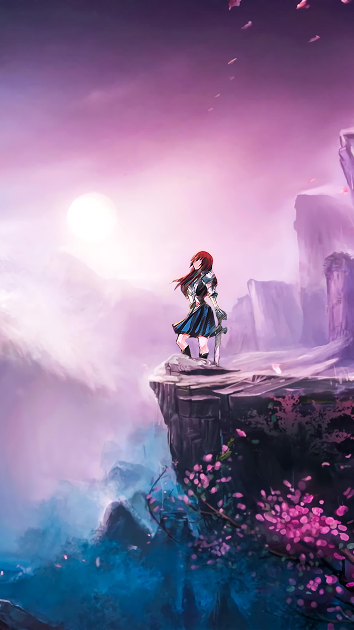 Bc51 Anime Girl Spring Japan Art Illustration Wallpaper