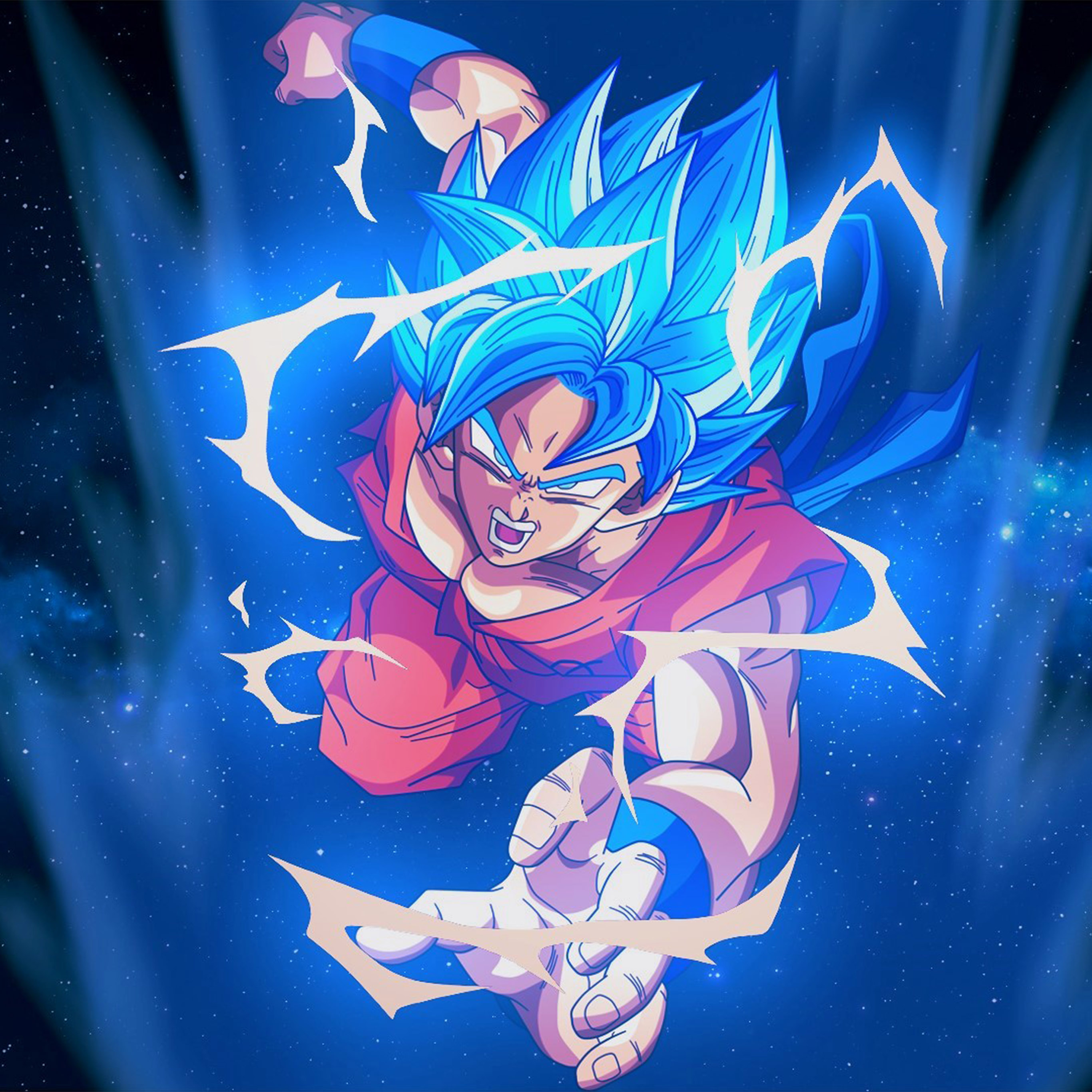 Manga Wallpaper: Bc54-dragonball-goku-blue-art-illustration-anime-wallpaper