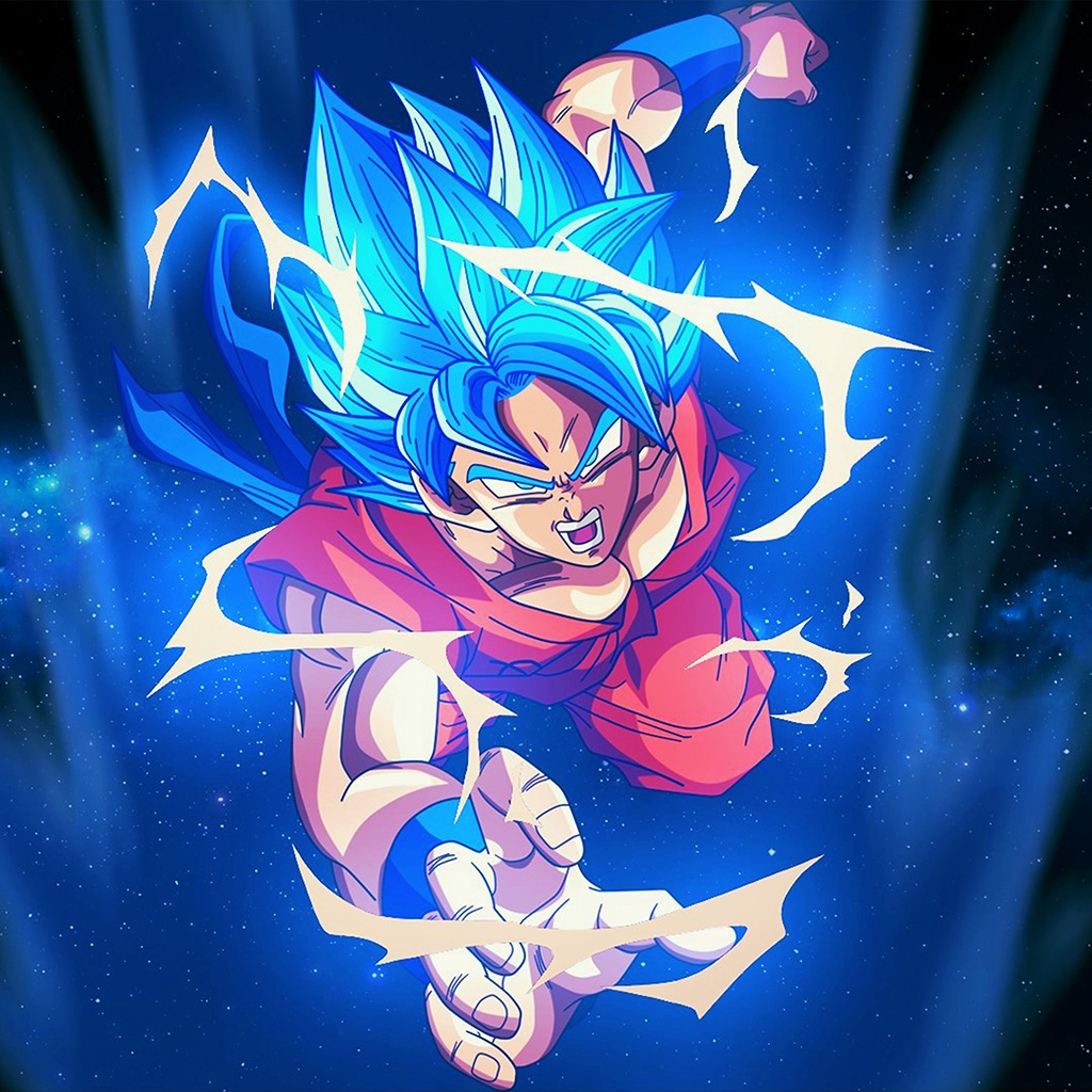 Papersco Android Wallpaper Bc55 Dragonball Goku Blue
