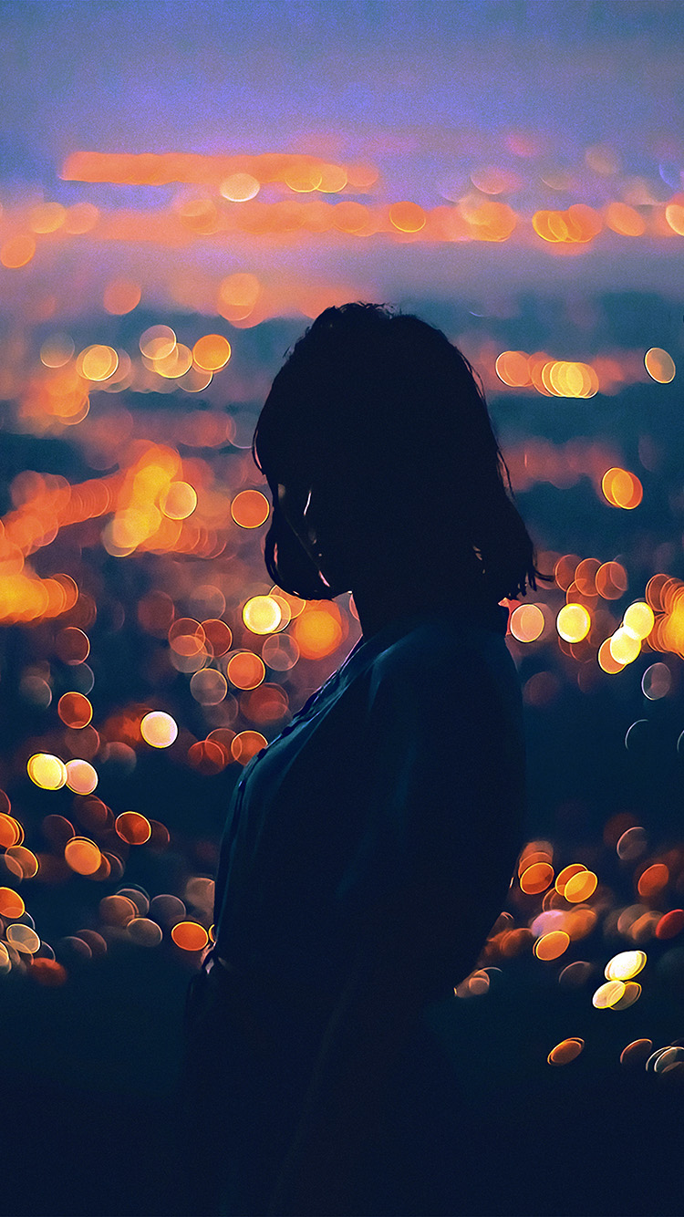 Papers.co-iPhone5-iphone6-plus-wallpaper-bc57-bokeh-girl-night-art-illustration