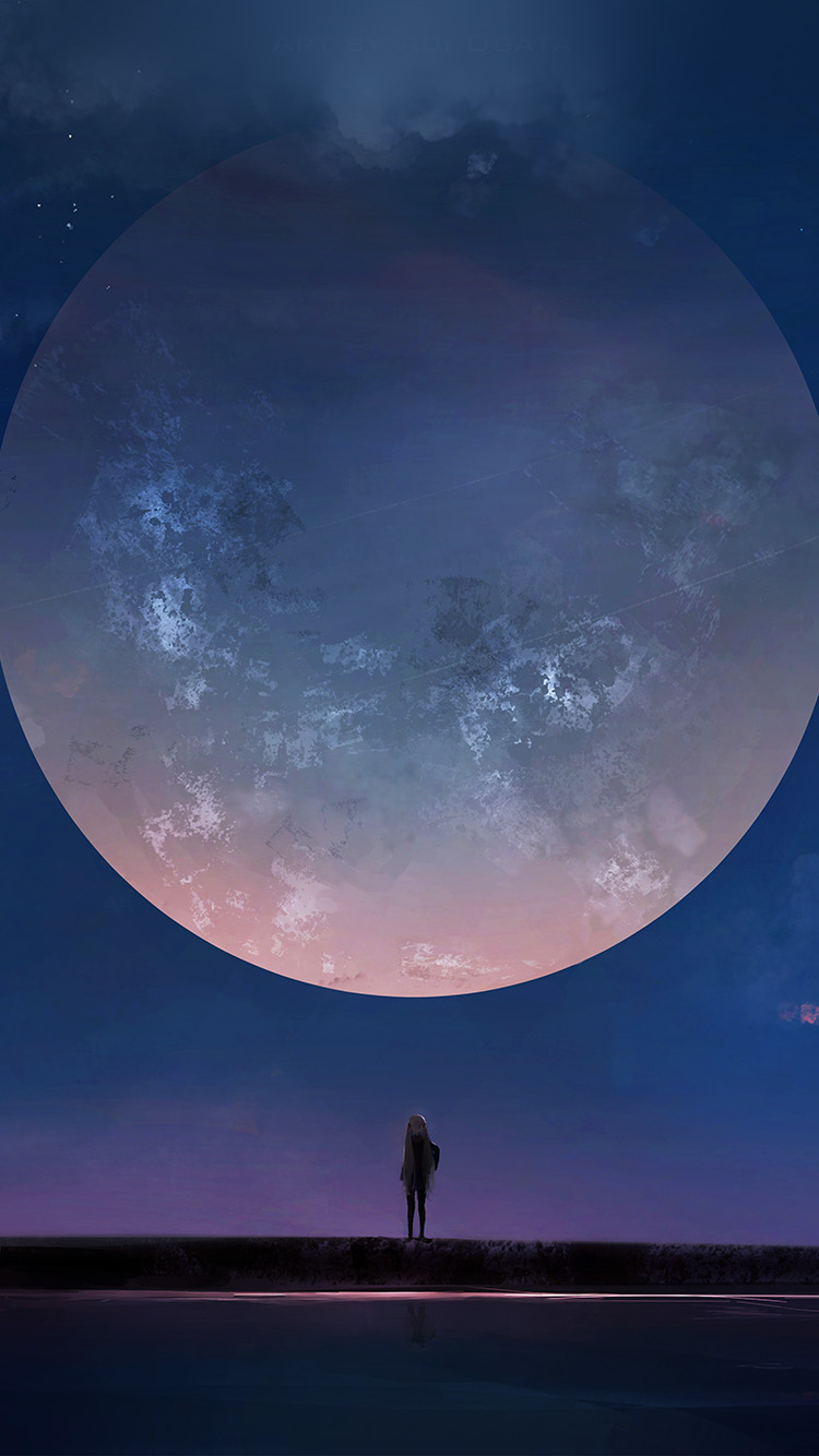 iPhonepapers.com-Apple-iPhone-wallpaper-bc62-moon-anime-night-art-illustration