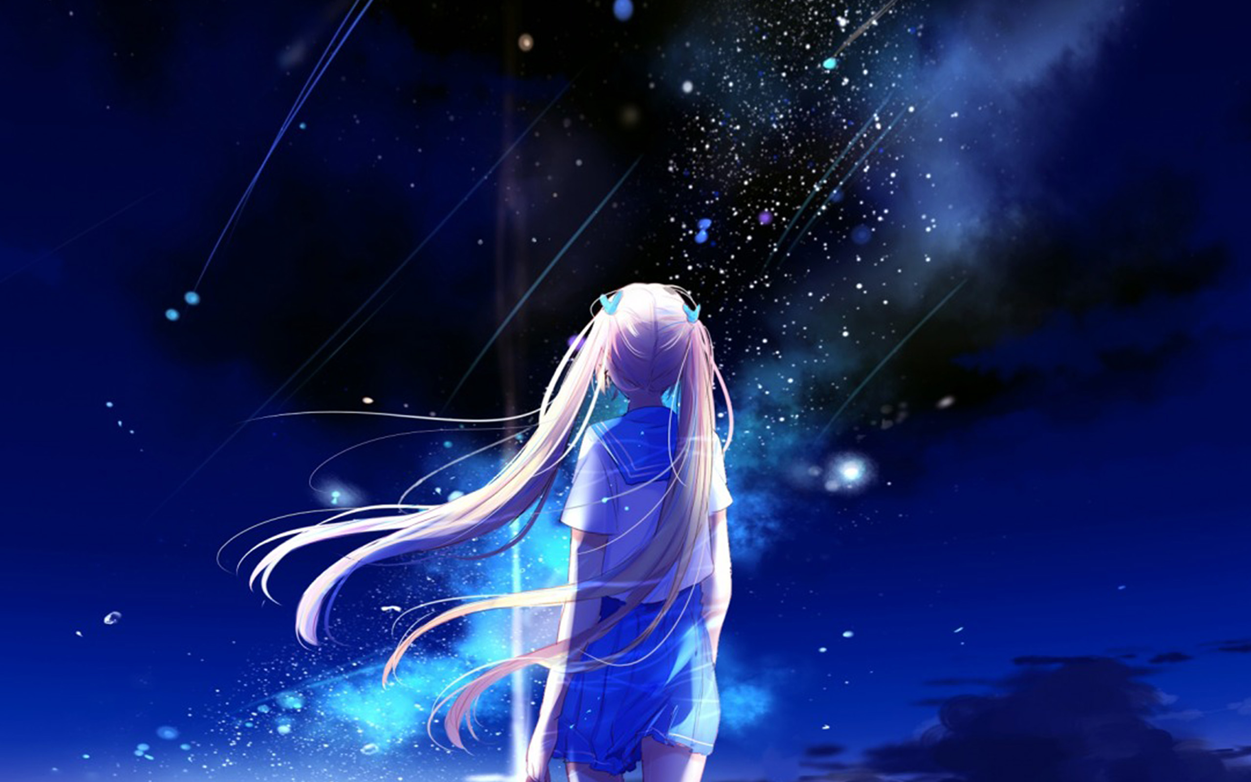 Anime Wallpaper Hd For Iphone: Bc64-anime-night-space-star-art-illustration-wallpaper