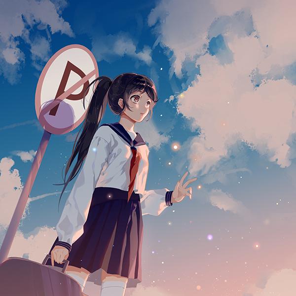 iPapers.co-Apple-iPhone-iPad-Macbook-iMac-wallpaper-bc66-girl-school-girl-anime-sky-cloud-star-art-illustration-wallpaper