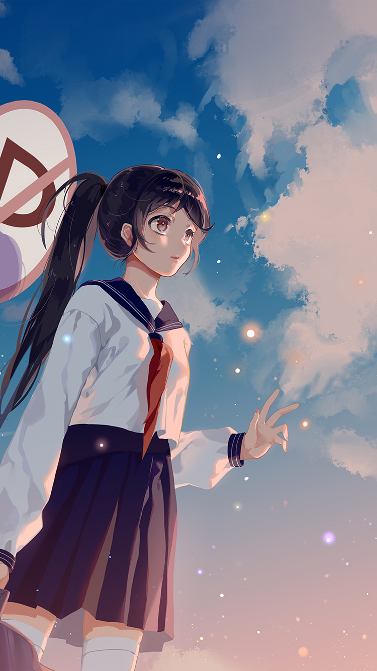 iPhone6papers.co-Apple-iPhone-6-iphone6-plus-wallpaper-bc66-girl-school-girl-anime-sky-cloud-star-art-illustration