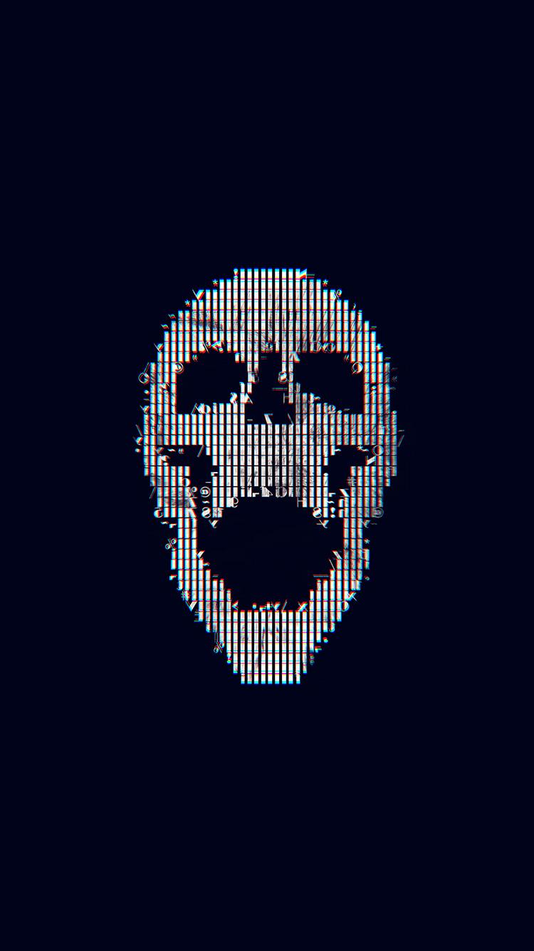 iPhone7papers.com-Apple-iPhone7-iphone7plus-wallpaper-bc72-digital-skull-bw-black-art-illustration-simple-minimal