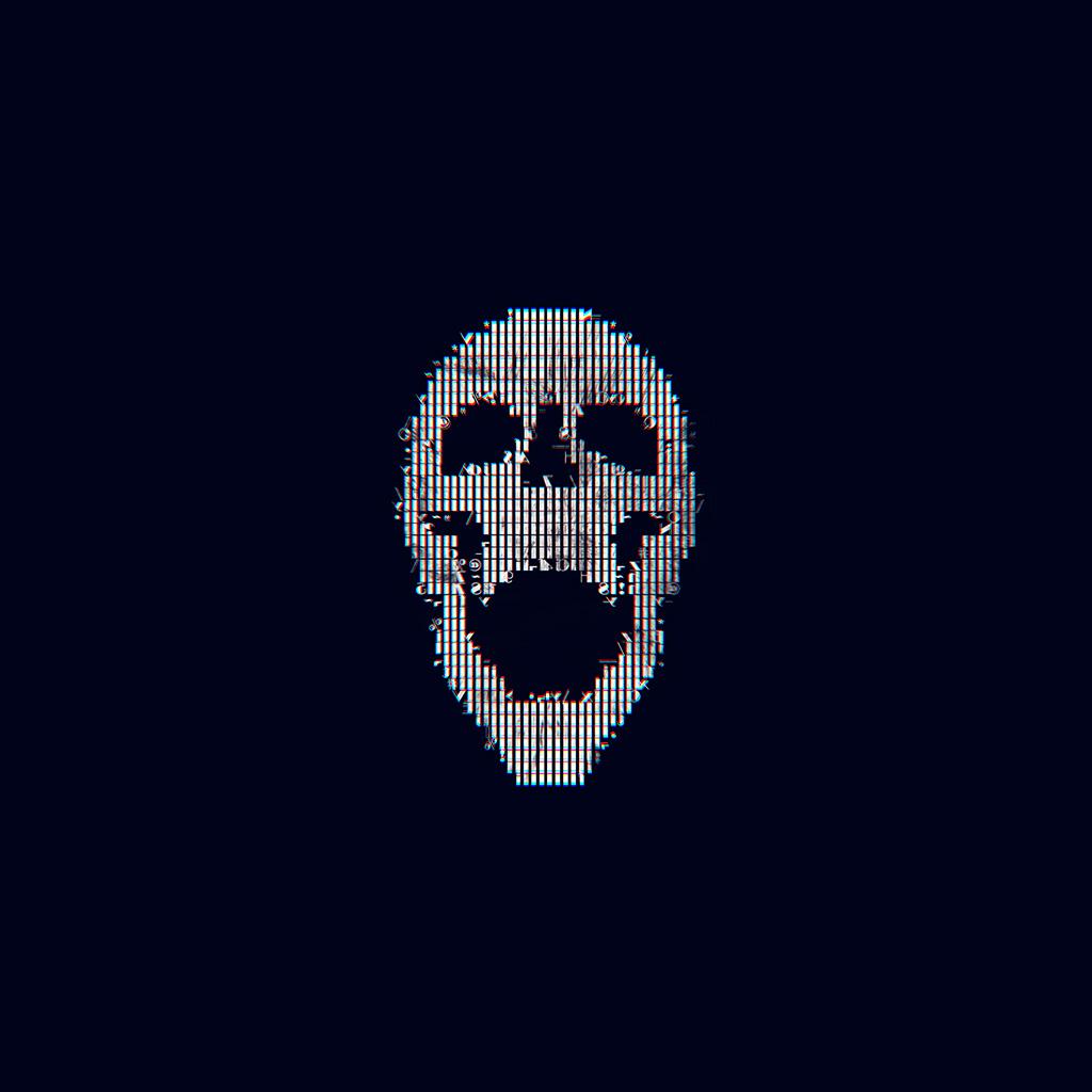 android-wallpaper-bc72-digital-skull-bw-black-art-illustration-simple-minimal-wallpaper