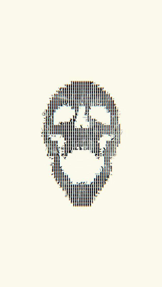 freeios8.com-iphone-4-5-6-plus-ipad-ios8-bc73-digital-skull-white-art-illustration-simple-minimal