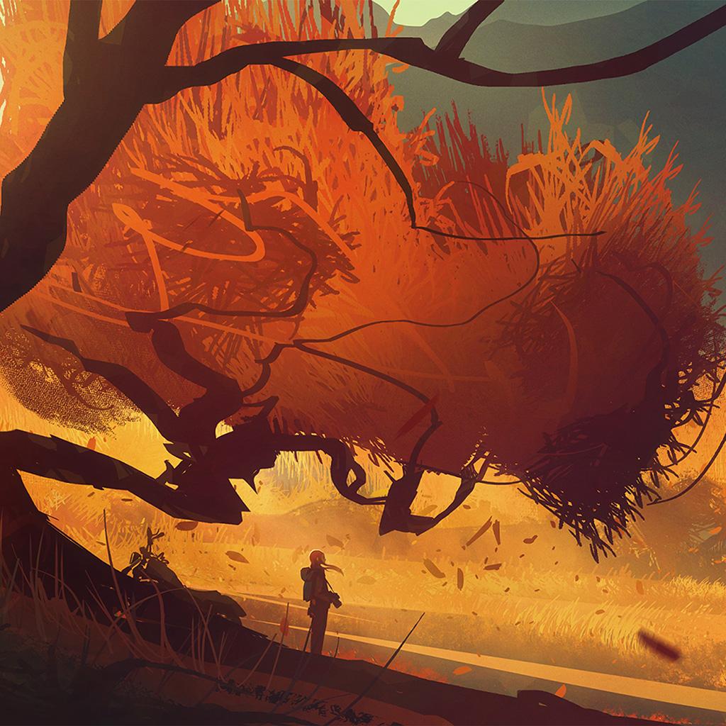 wallpaper-bc75-fall-autume-tree-anime-paint-art-illustration-wallpaper