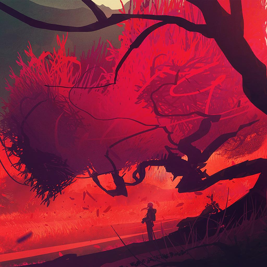 wallpaper-bc76-fall-autume-tree-anime-paint-art-illustration-wallpaper