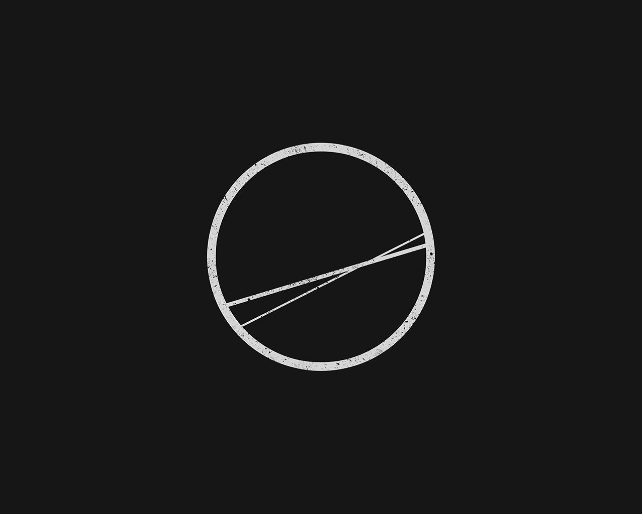 Simple Minimalist Ipad Wallpaper: Bc77-minimal-simple-circle-art-illustration-dark-wallpaper