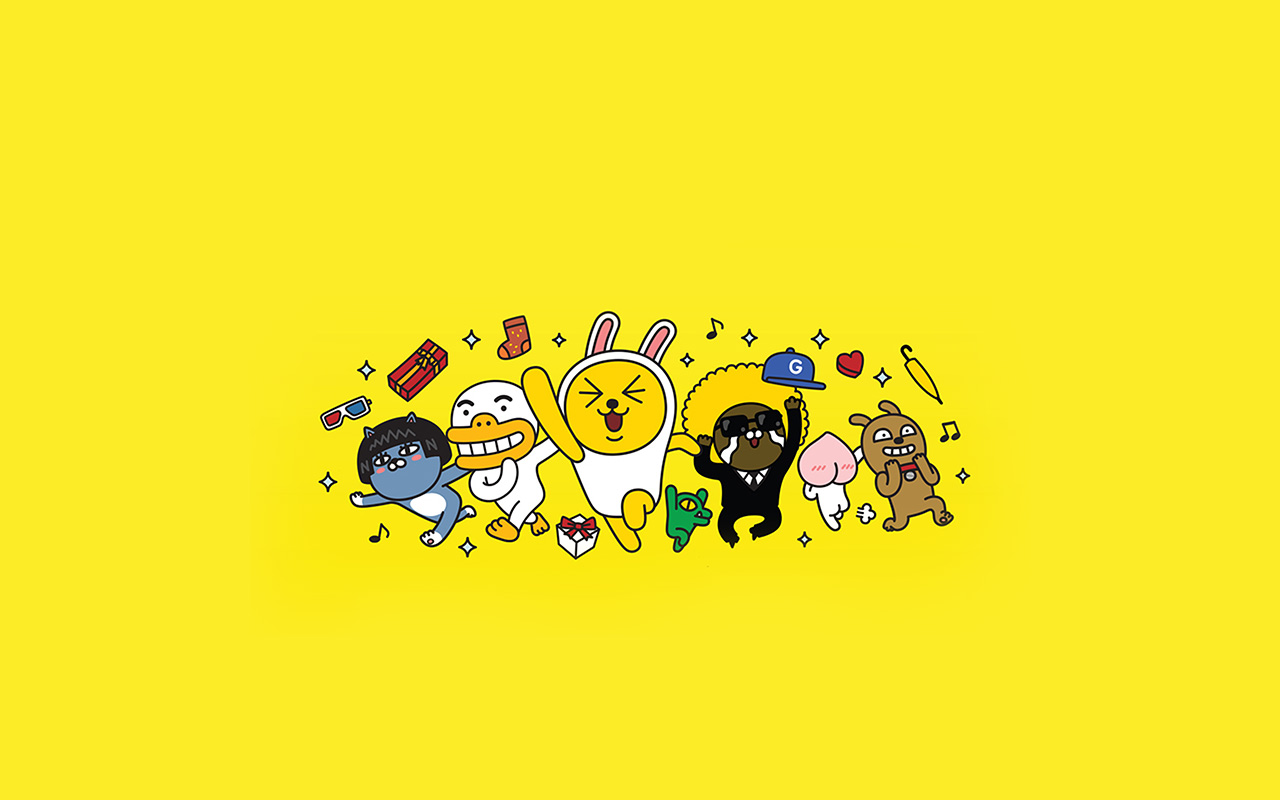 bc88 kakao yellow friends anime art illustration wallpaper