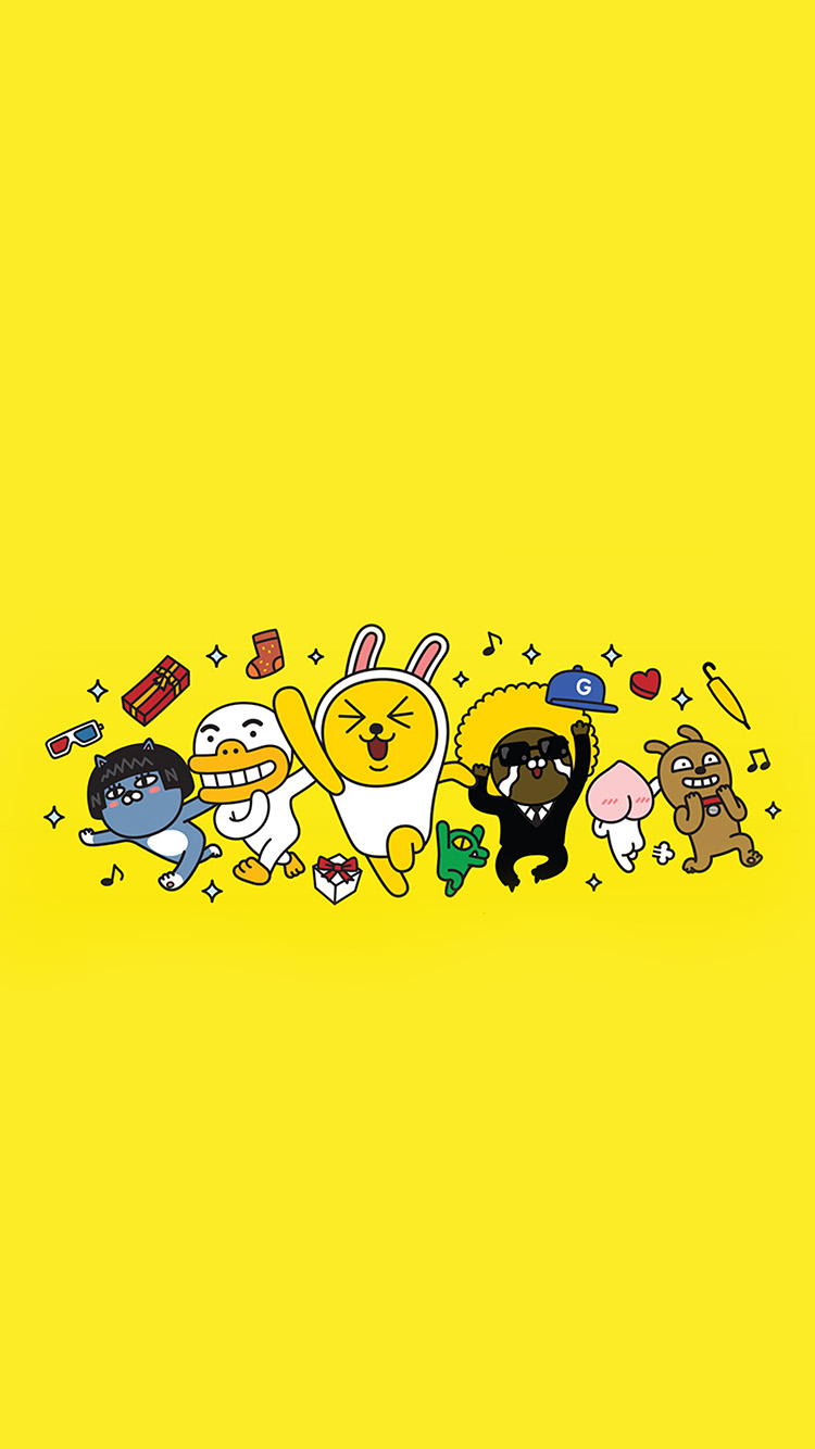 iPhonepapers.com-Apple-iPhone-wallpaper-bc88-kakao-yellow-friends-anime-art-illustration