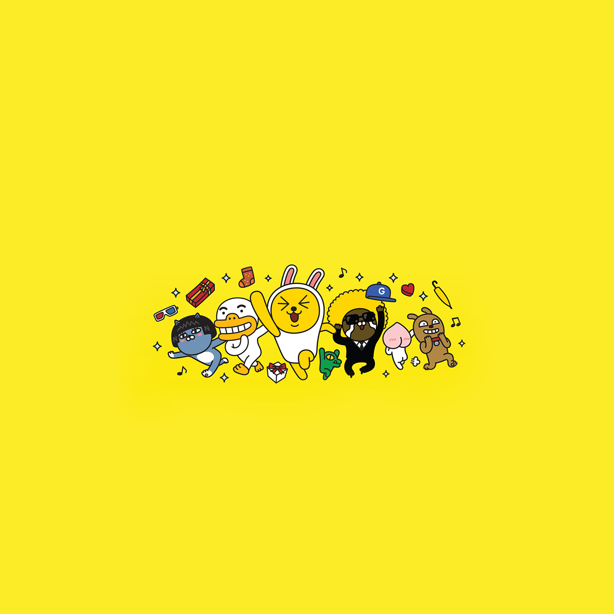 Bc88 Kakao Yellow Friends Anime Art Illustration Wallpaper