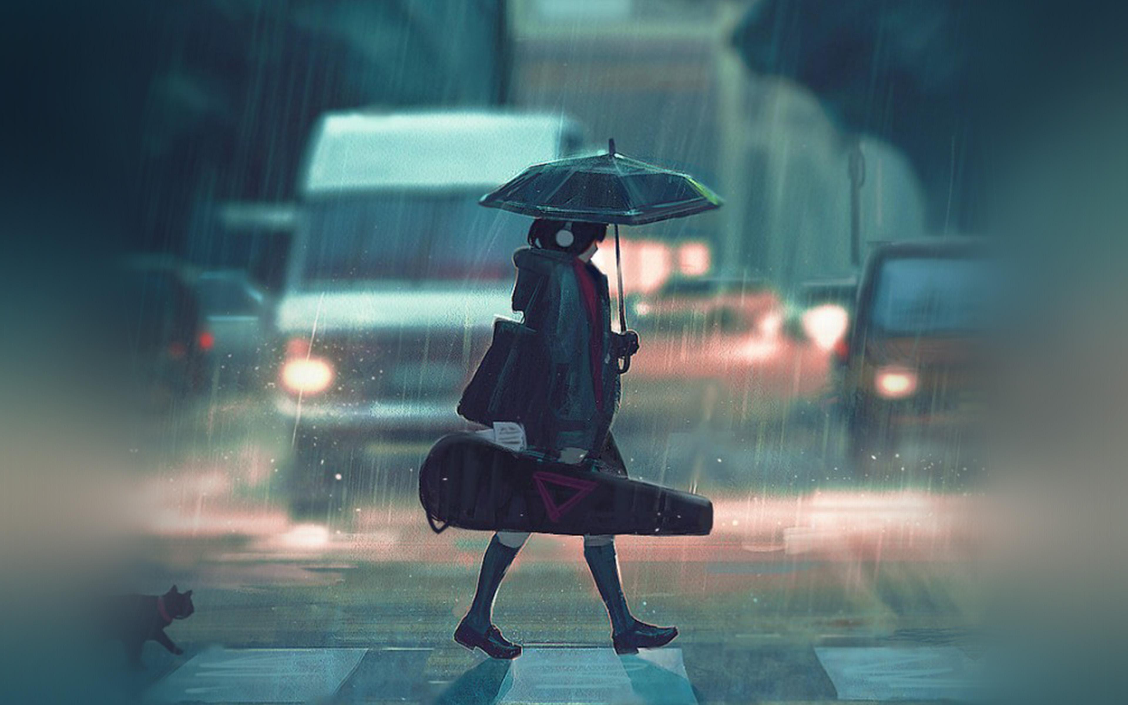 Bc89-rainy-day-anime-paint-girl-art-illustration-wallpaper