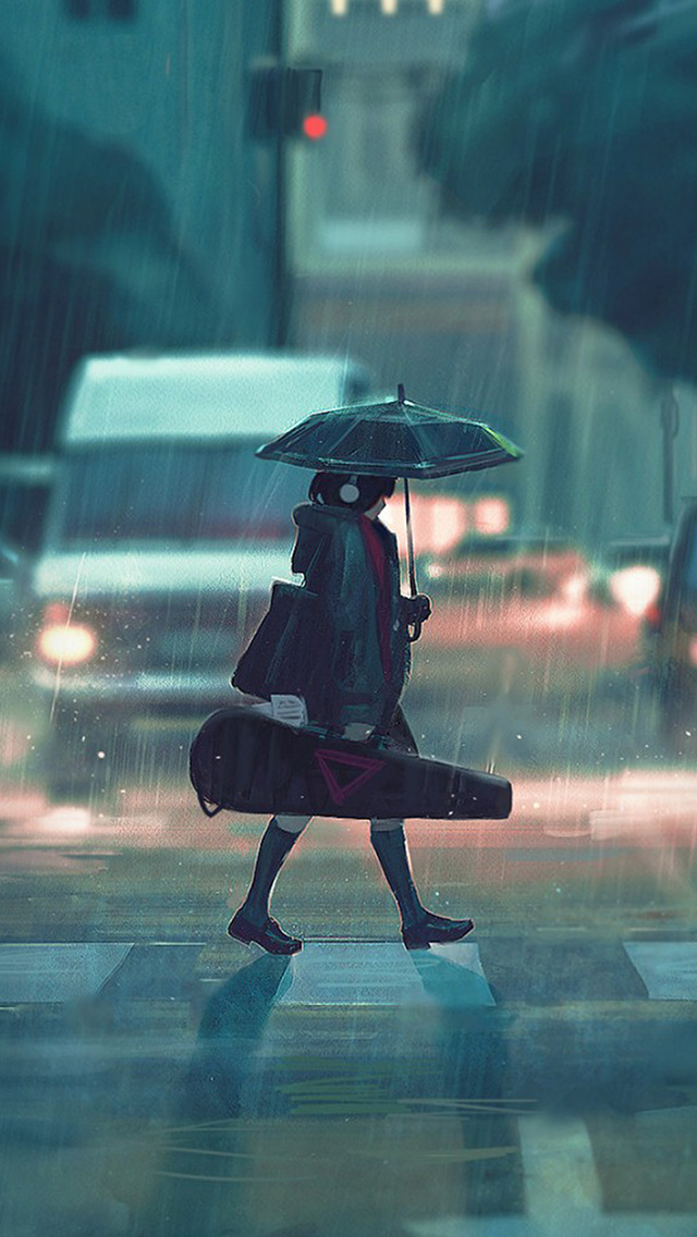 Iphone7papers Com Iphone7 Wallpaper Bc89 Rainy Day Anime
