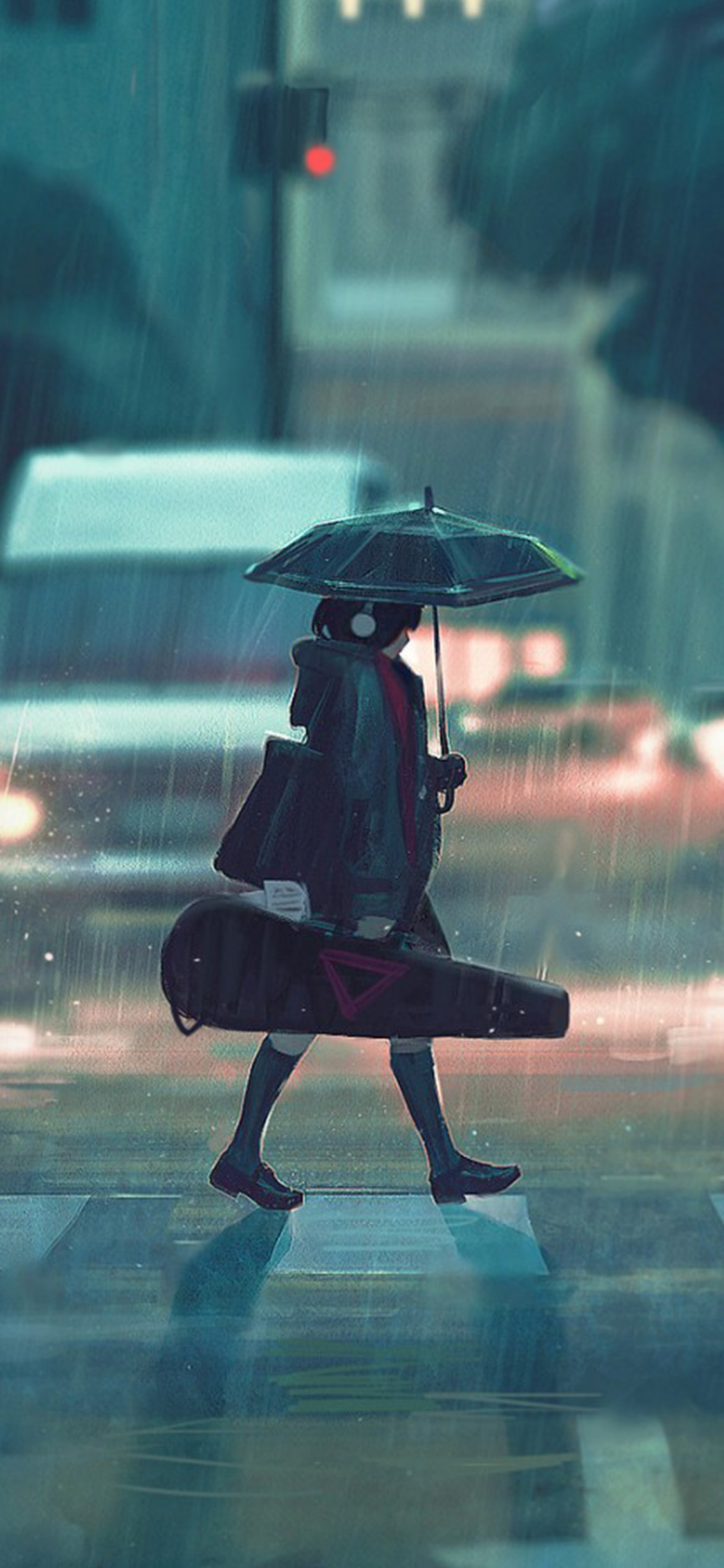 iPhonexpapers.com-Apple-iPhone-wallpaper-bc89-rainy-day-anime-paint-girl-art-illustration