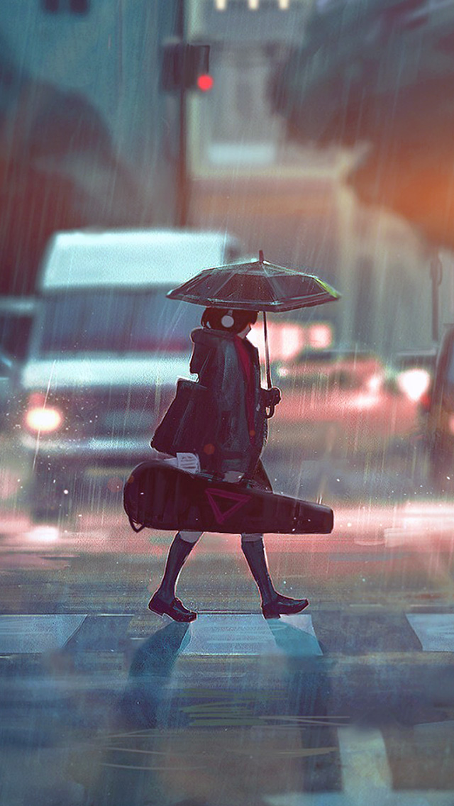 freeios8.com-iphone-4-5-6-plus-ipad-ios8-bc90-rainy-day-anime-paint-girl-art-illustration-flare