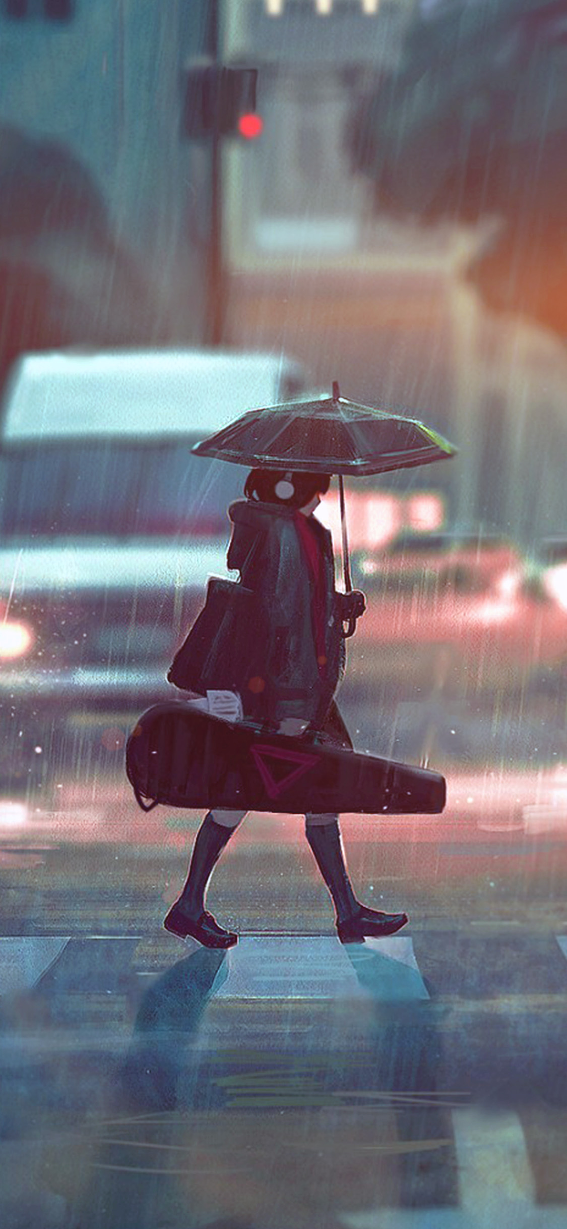 iPhonexpapers.com-Apple-iPhone-wallpaper-bc90-rainy-day-anime-paint-girl-art-illustration-flare