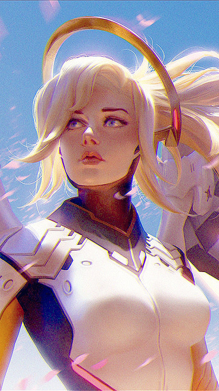 iPhonepapers.com-Apple-iPhone-wallpaper-bc96-anime-game-overwatch-merci-girl-art-illustration