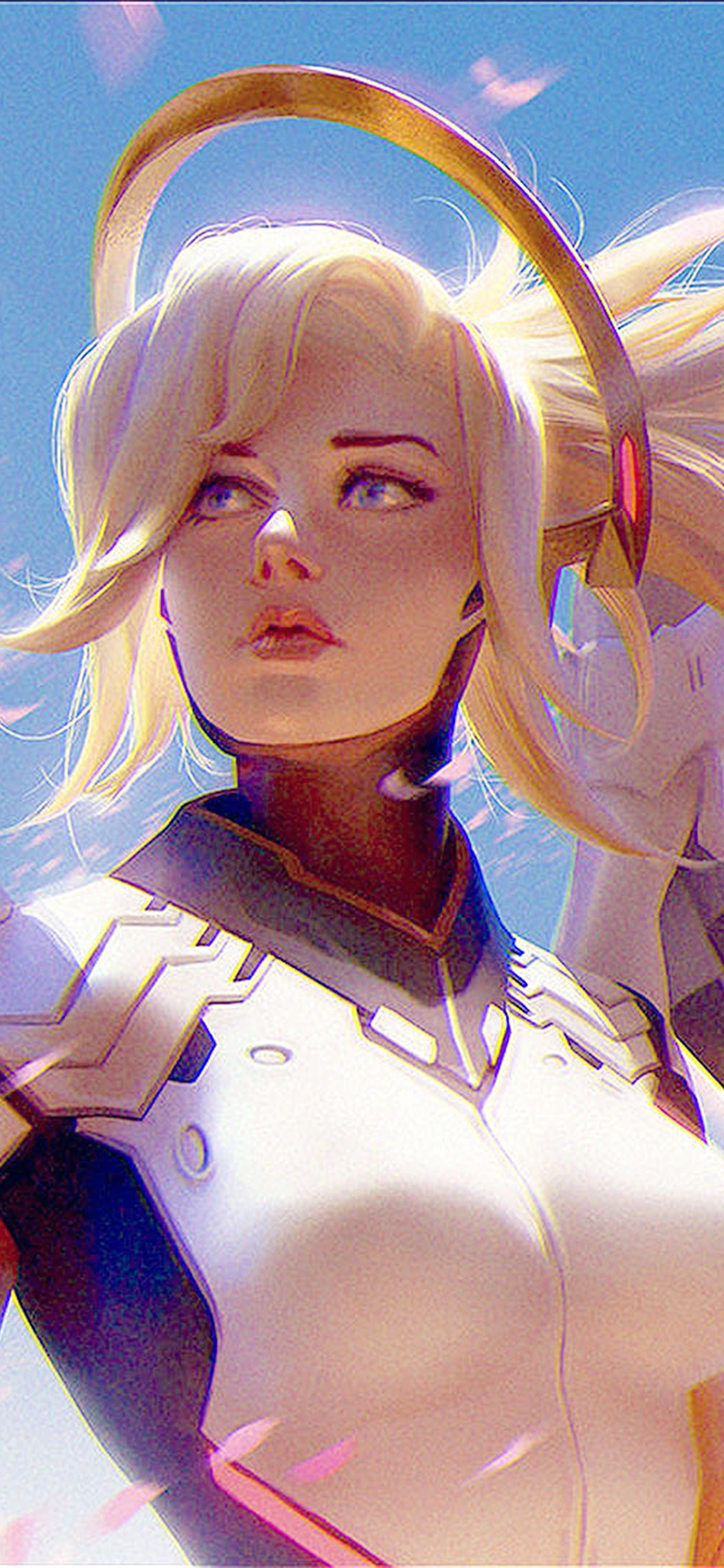 iPhonexpapers.com-Apple-iPhone-wallpaper-bc96-anime-game-overwatch-merci-girl-art-illustration