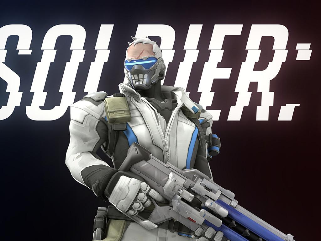 Bc97 Overwatch Soldier Game Art Illustration Wallpaper