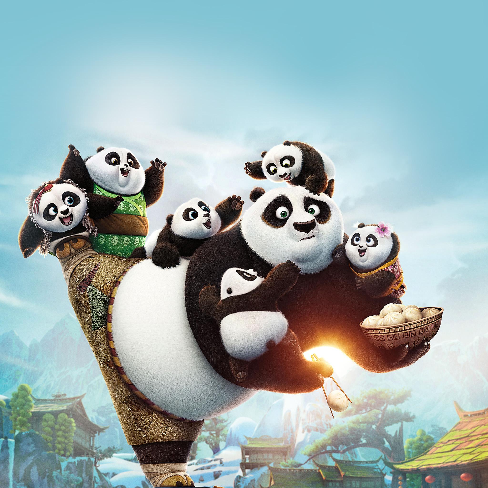 Bd01 kungfu panda anime picture art illustration wallpaper - Panda anime wallpaper ...
