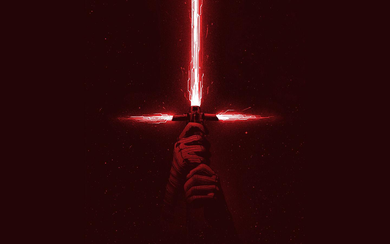 Bd05 Starwars First Jedi Red Film Art Illustration Wallpaper