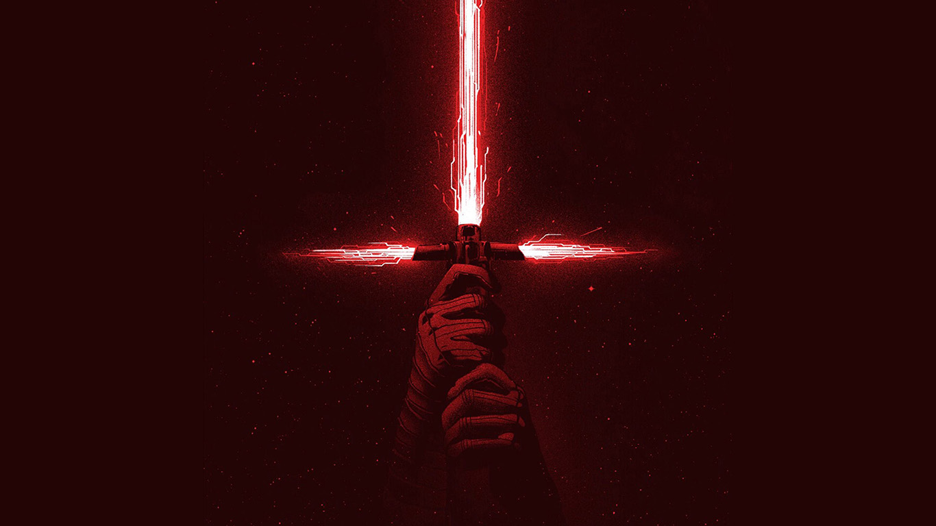 Wallpaper For Desktop Laptop Bd05 Starwars First Jedi Red Film