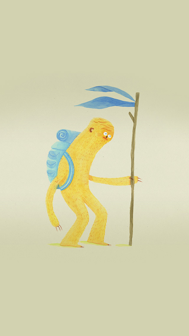 freeios8.com-iphone-4-5-6-plus-ipad-ios8-bd07-monkey-anime-drawing-picture-art-illustration