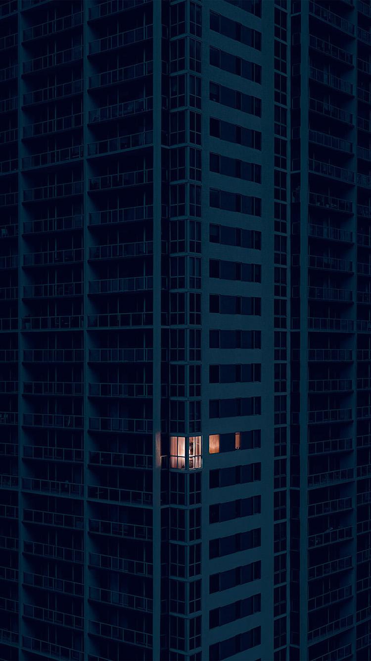 Papers.co-iPhone5-iphone6-plus-wallpaper-bd10-city-dark-apartment-pattern-art-illustration-blue