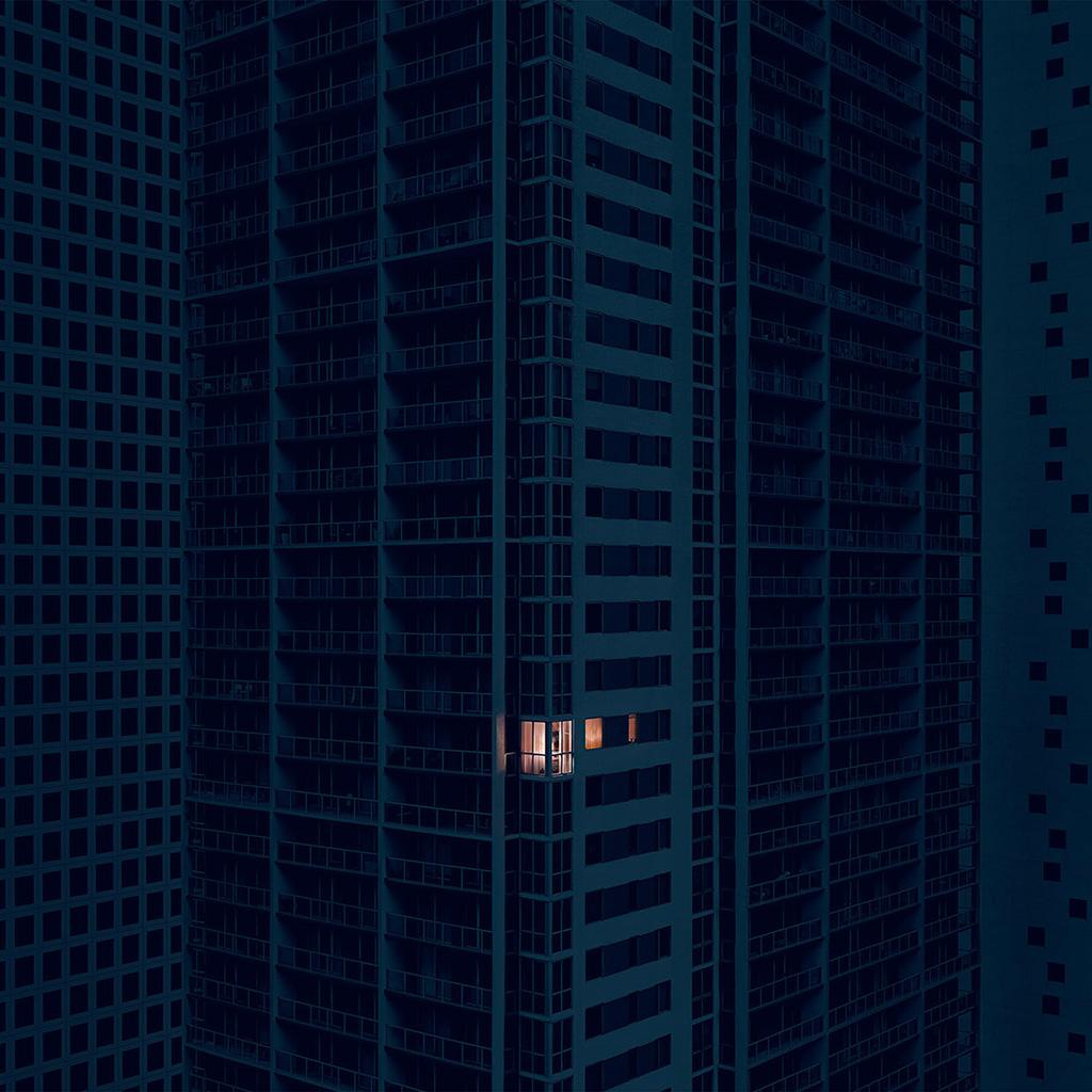 wallpaper-bd10-city-dark-apartment-pattern-art-illustration-blue-wallpaper