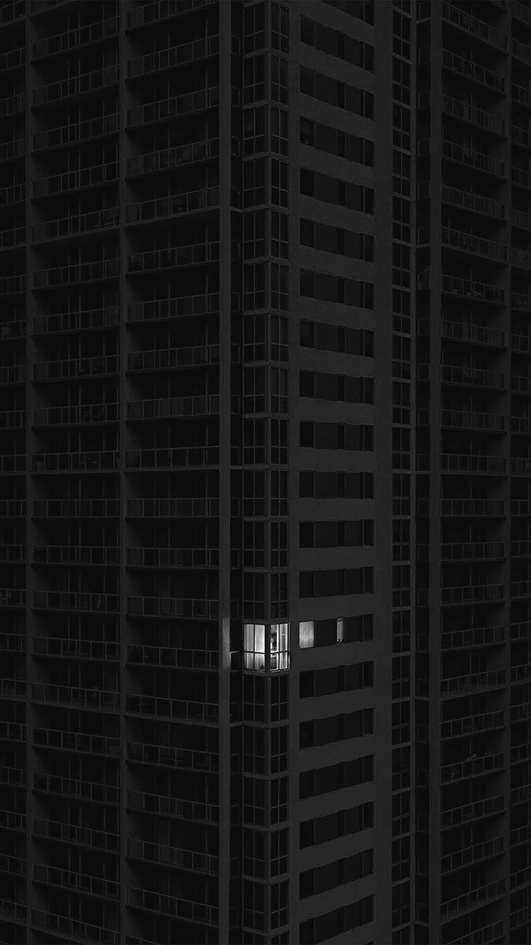Papersco Iphone Wallpaper Bd11 City Dark Apartment
