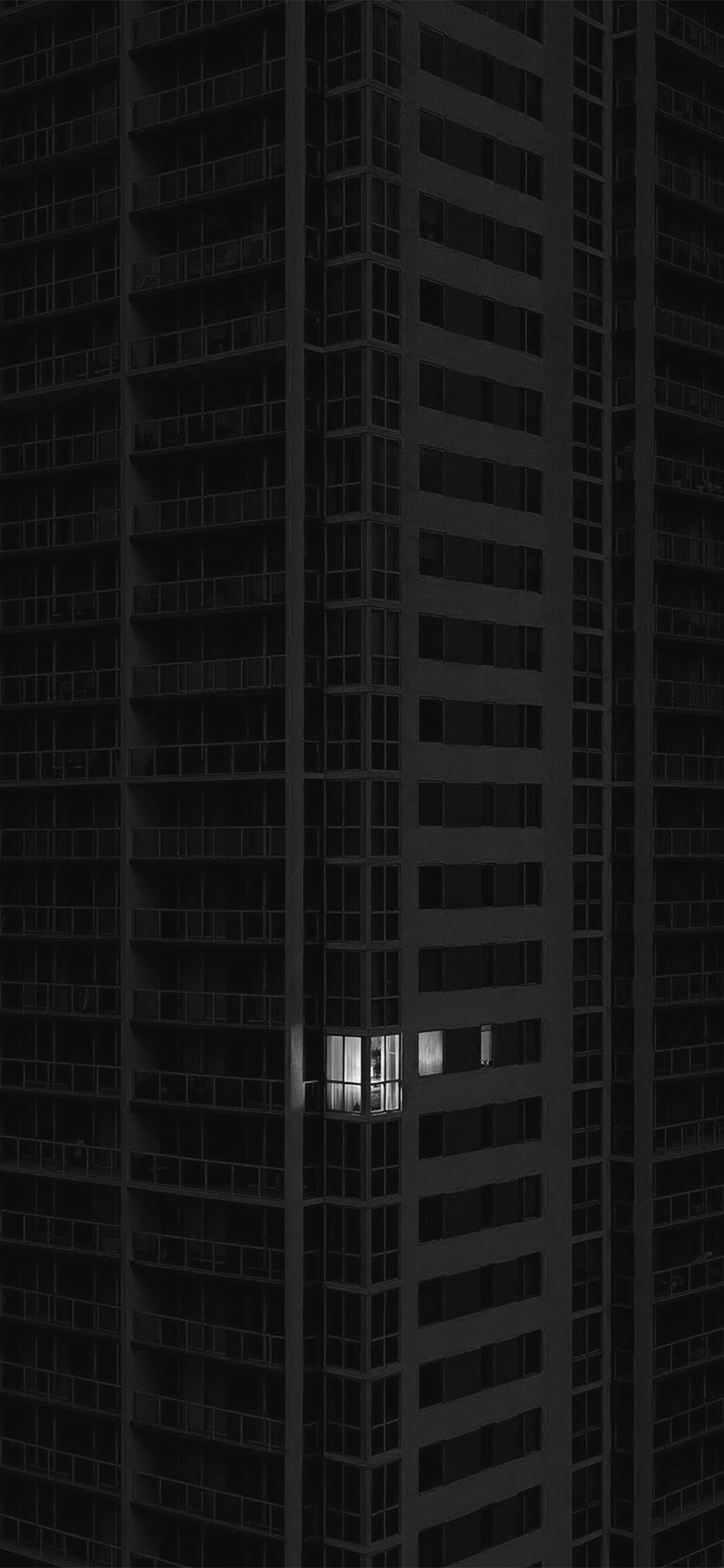 iPhonexpapers.com-Apple-iPhone-wallpaper-bd11-city-dark-apartment-pattern-art-illustration-bw