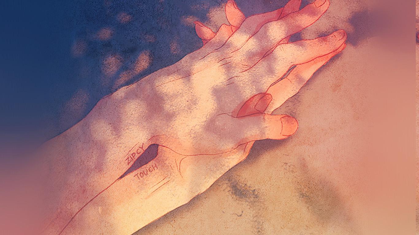 Bd15 Zipcy Love Hand Art Illustration Anime Couple Wallpaper