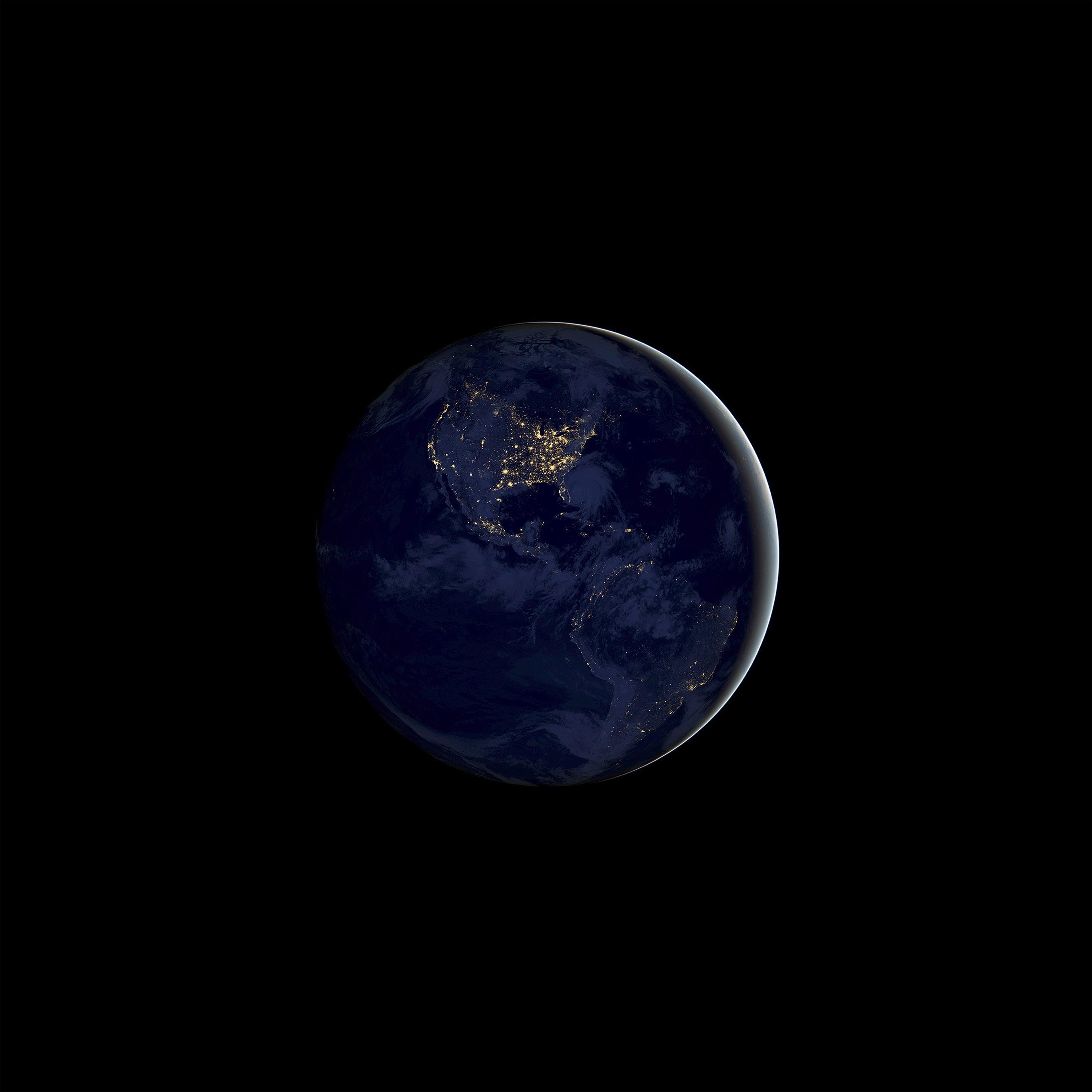 Desktop Wallpaper Earth From Space: Bd20-earth-space-dark-night-art-illustration-wallpaper