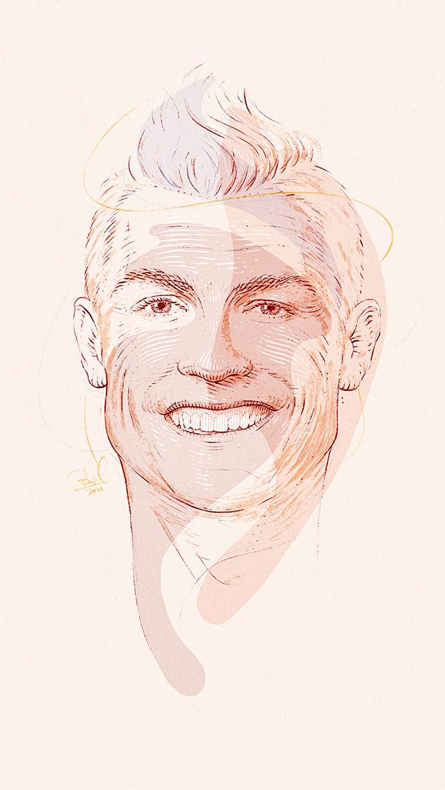 freeios8.com-iphone-4-5-6-plus-ipad-ios8-bd22-ronaldo-drawing-sports-art-illustration