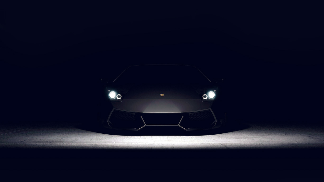 Bd24 Car Dark Lamborghini Art Illustration Blue Wallpaper