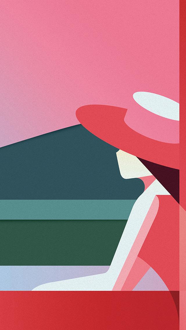 freeios8.com-iphone-4-5-6-plus-ipad-ios8-bd32-minimal-simple-digital-woman-art-illustration