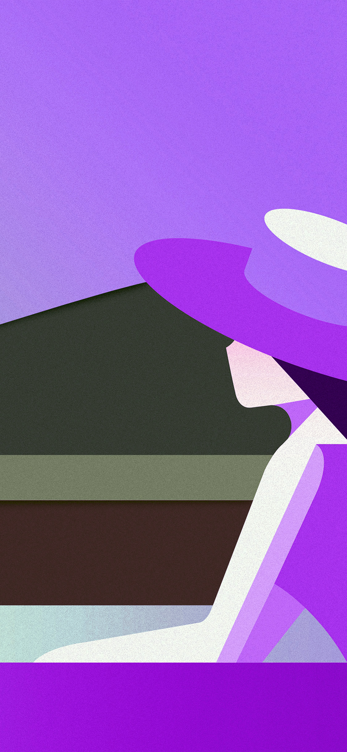 iPhonexpapers.com-Apple-iPhone-wallpaper-bd33-minimal-simple-digital-woman-art-illustration-purple