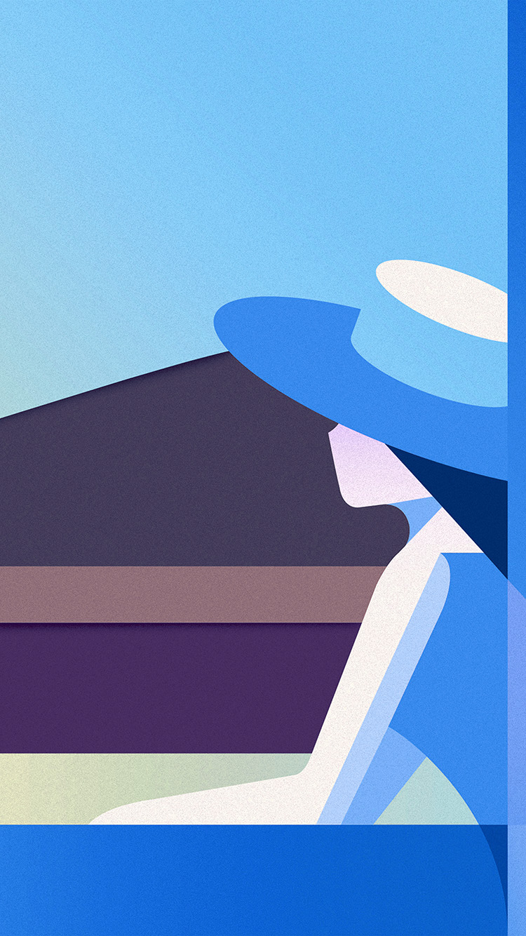Papers.co-iPhone5-iphone6-plus-wallpaper-bd34-minimal-simple-digital-woman-art-illustration-blue