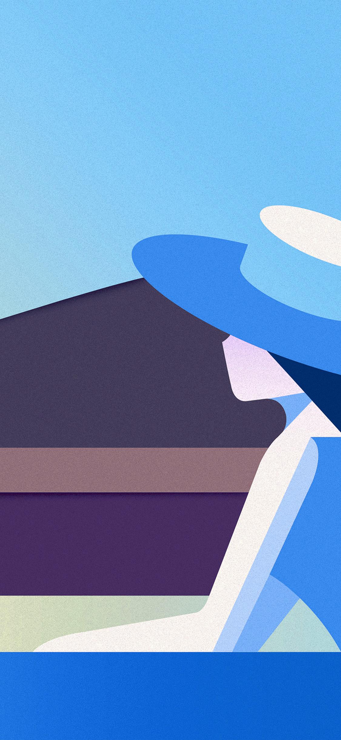 iPhonexpapers.com-Apple-iPhone-wallpaper-bd34-minimal-simple-digital-woman-art-illustration-blue