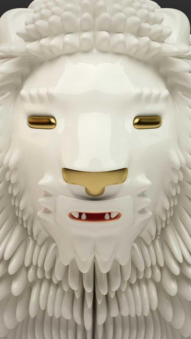 freeios8.com-iphone-4-5-6-plus-ipad-ios8-bd39-face-animal-ditigital-lion-art-illustration