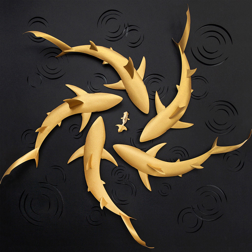 android-wallpaper-bd55-fish-gold-shark-art-illustration-wallpaper