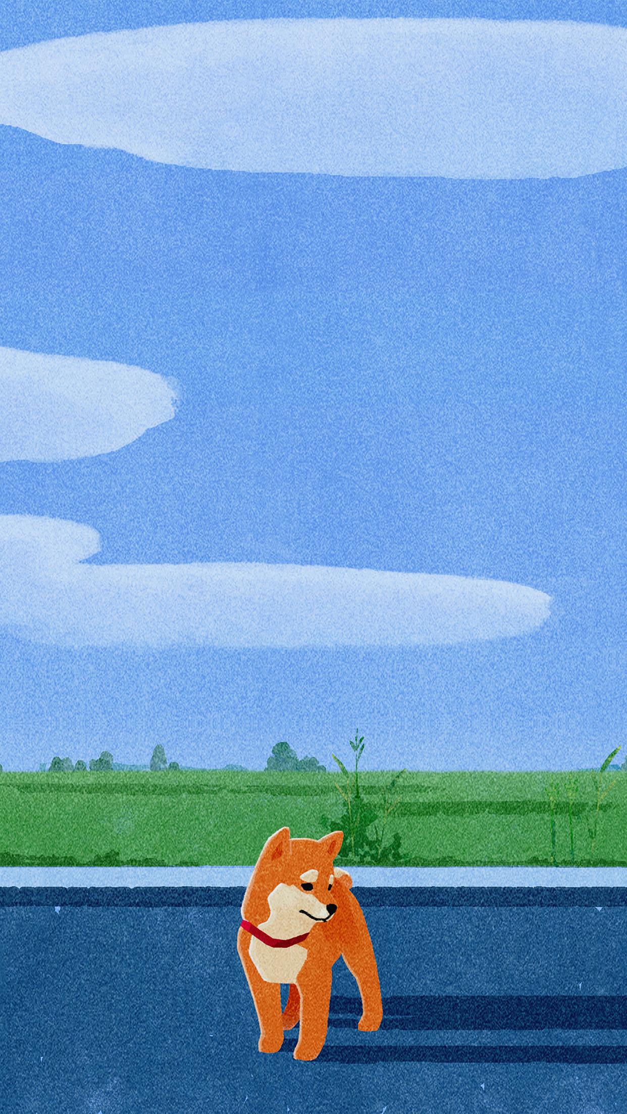 Iphonepapers Com Iphone Wallpaper Bd61 Siba Dog Cute Art