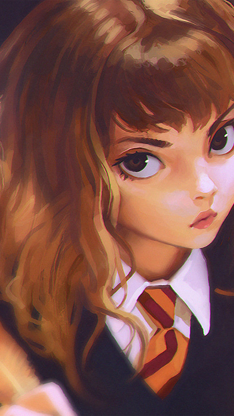 Papers.co-iPhone5-iphone6-plus-wallpaper-bd65-hermione-harry-potter-liya-art-illustration
