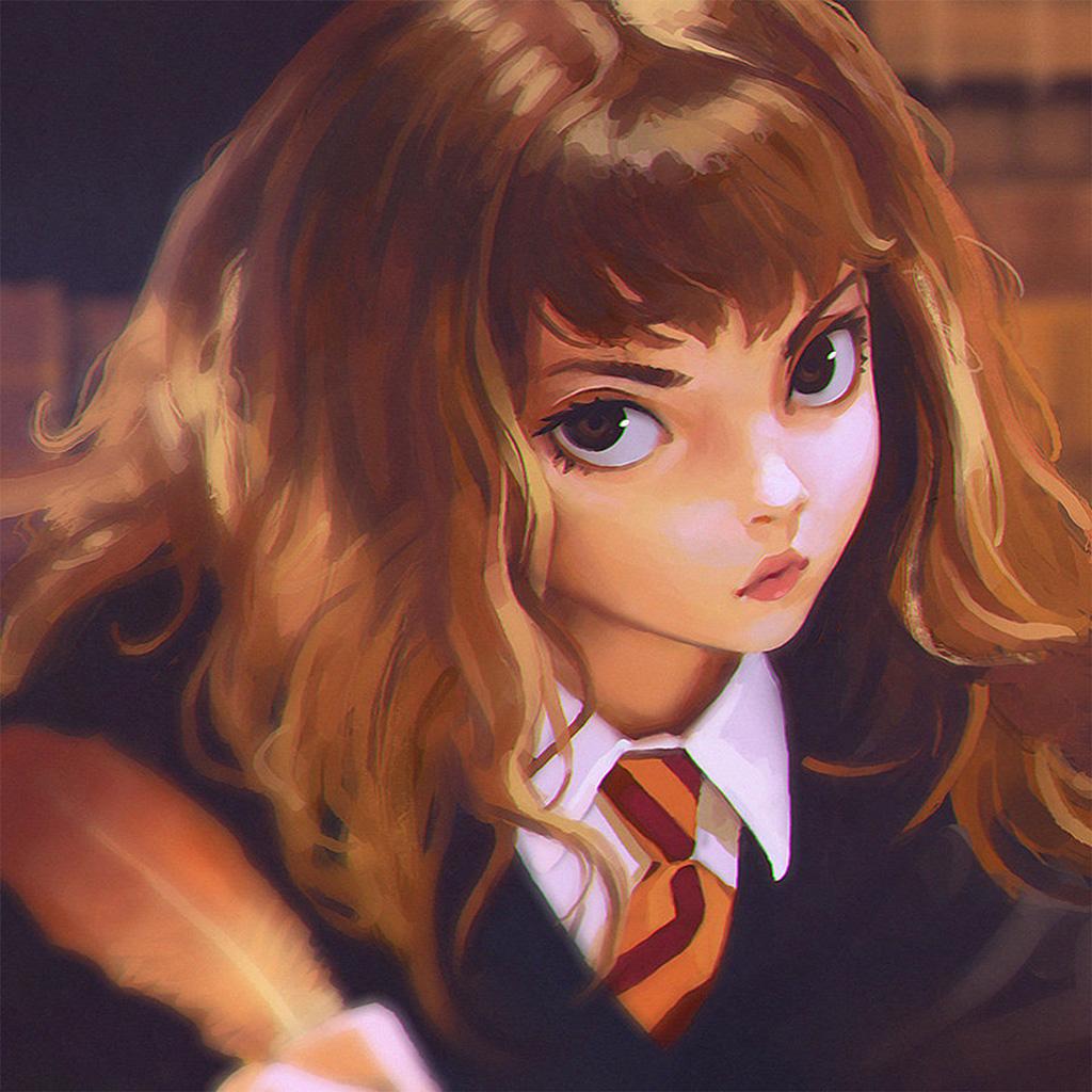 wallpaper-bd65-hermione-harry-potter-liya-art-illustration-wallpaper